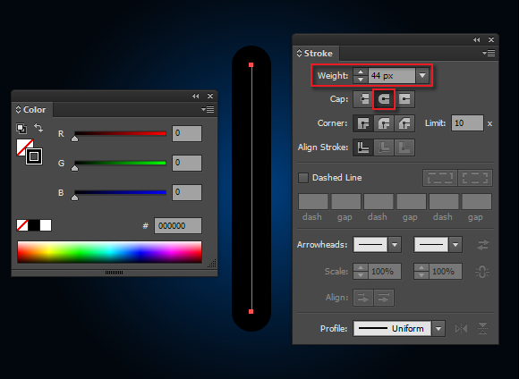 create lightsaber vector plasma blade