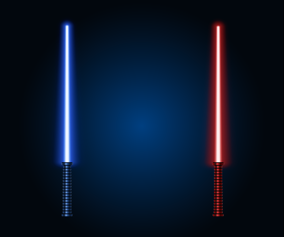 lightsaber vector color details