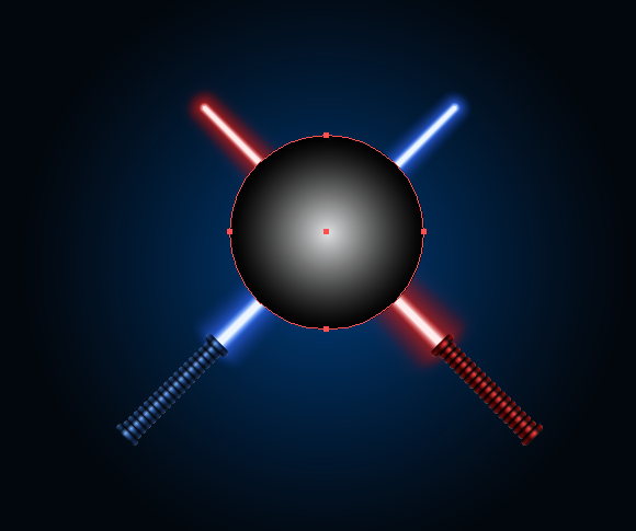 lightsaber vector placement