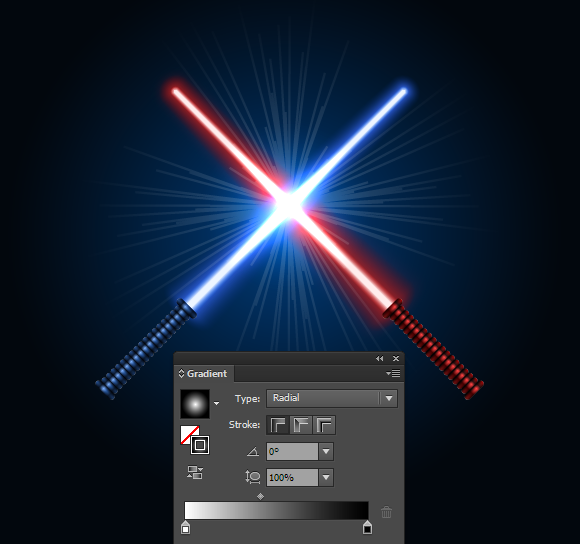 lightsaber vector finishing touches - gradient