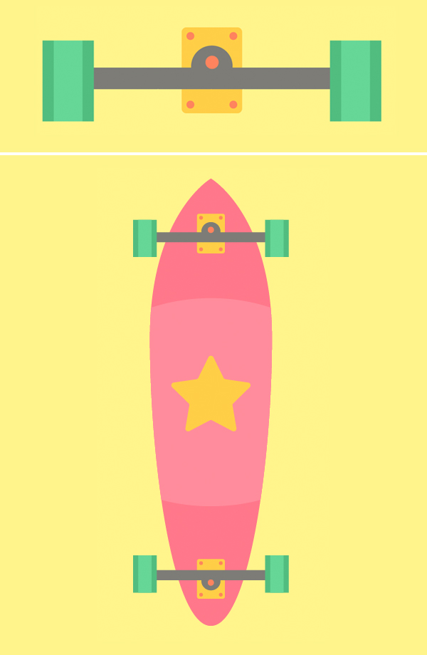 steven universe skateboard illustration