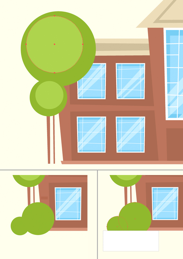 illustrate a mansion in adobe illustrator
