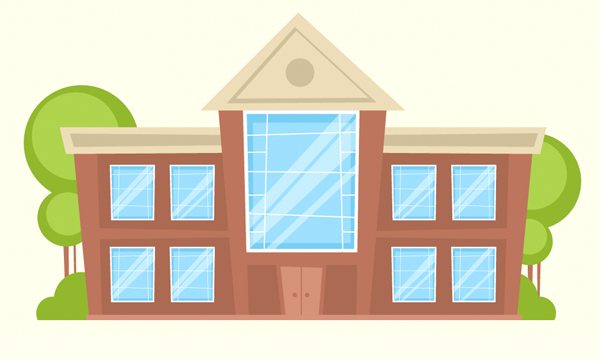 How To Illustrate A Cartoon Building Vector In Adobe