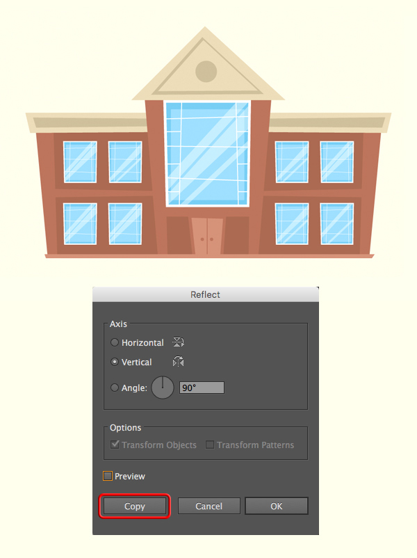 schoolhouse vector tutorial