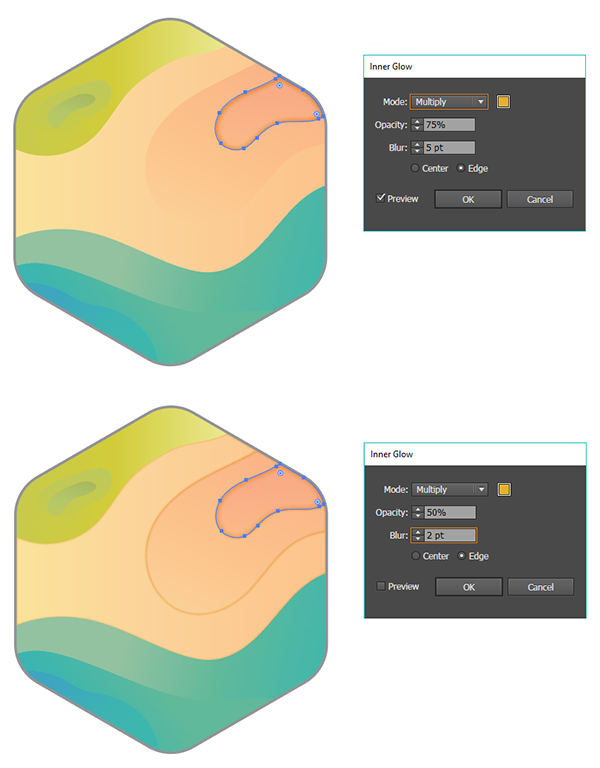 abstract topographical map icon tutorial