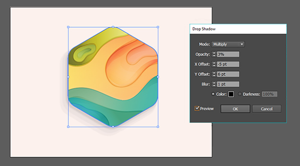 abstract topographical map icon