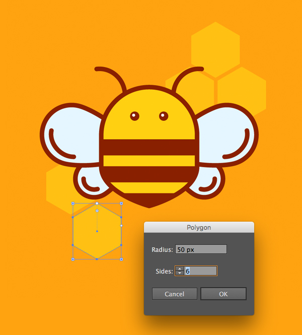 how to draw a honey bee logo in adobe illustrator