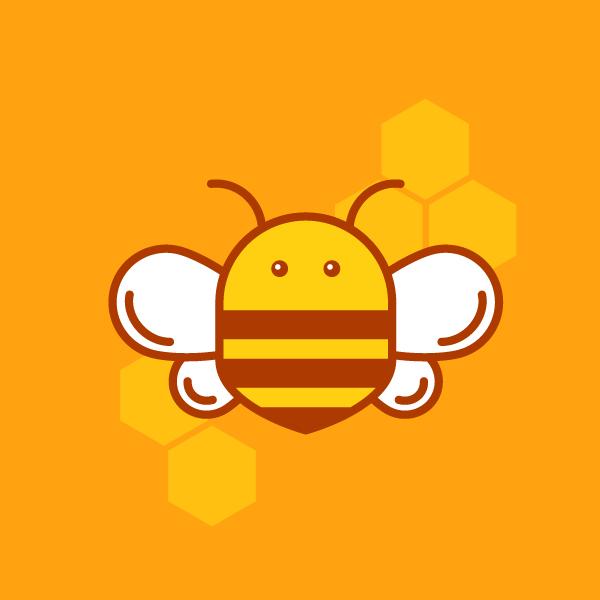 how to design honey bee logo