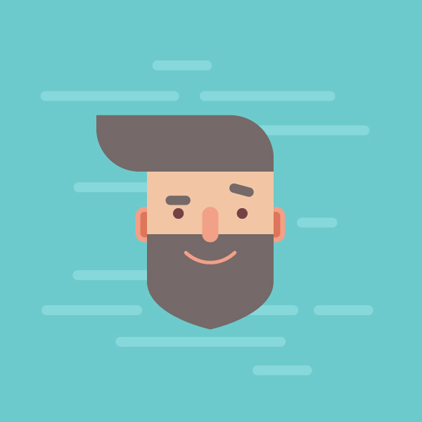 Adobe Illustrator Essentials For Character Design : Design a handsome flat hipster character in adobe