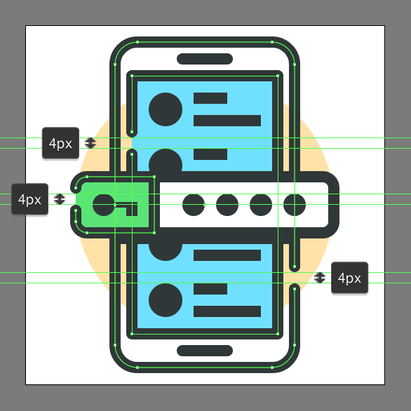 how to design mobile authentication app icon