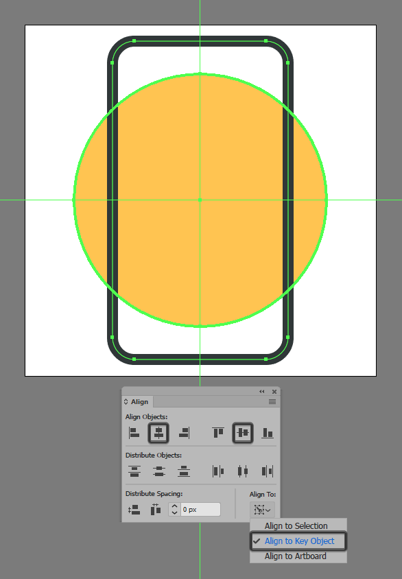 how to create mobile authentication app icon adobe illustrator