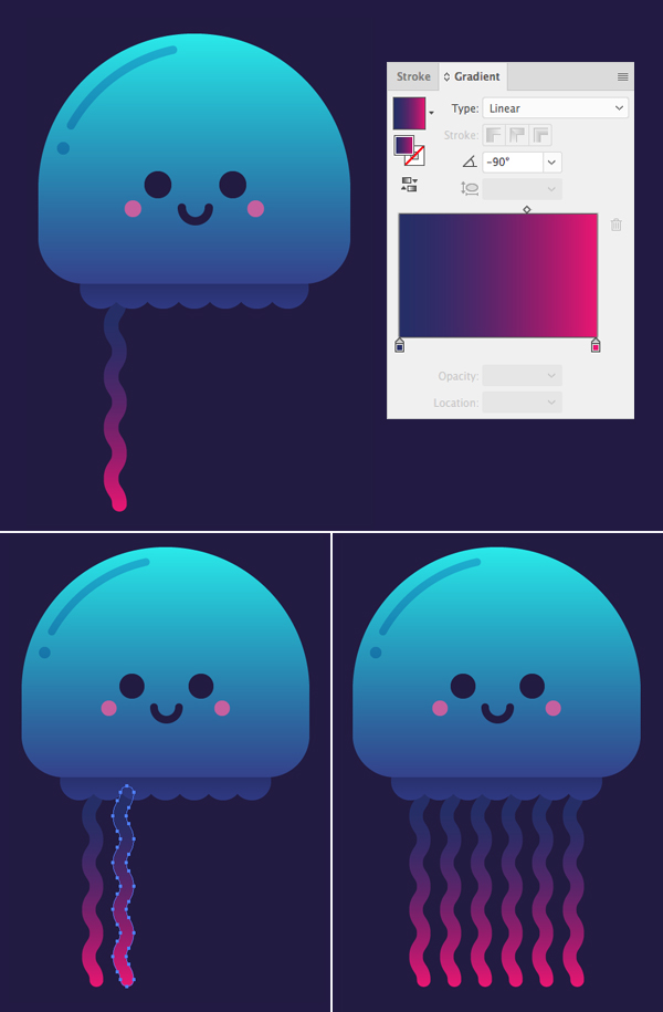 10 Steps To Draw A Cute Glowing Jellyfish In Adobe Illustrator Vectips