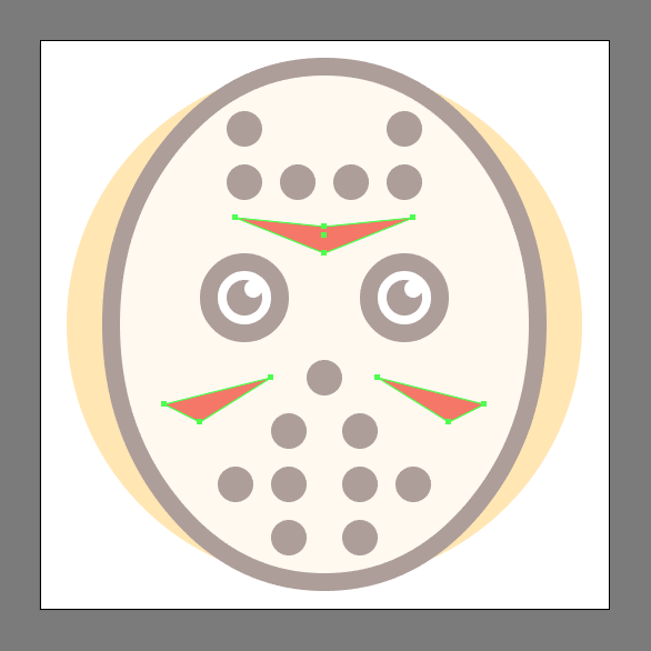 Halloween Emoji Icon mask decals