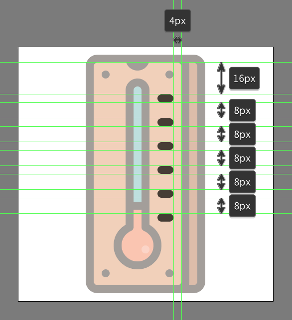 add detail to the Retro Thermometer Icon