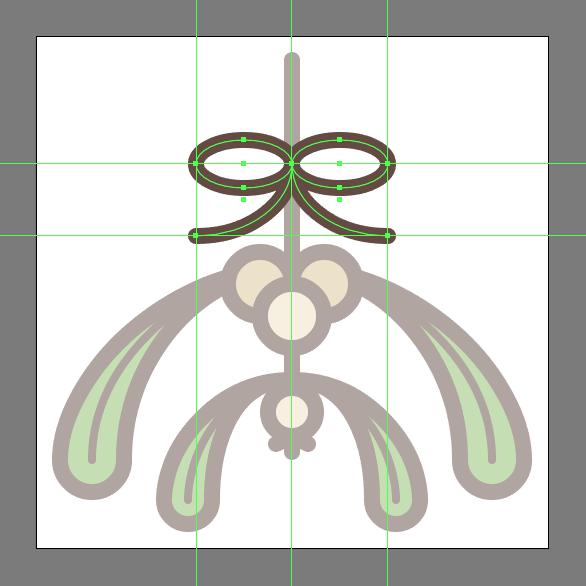 Bow string or ribbon detail