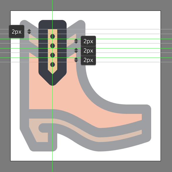 Cowboy Boot Icon strap detail