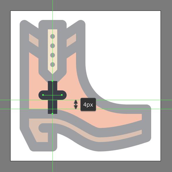 Cowboy Boot Icon detail