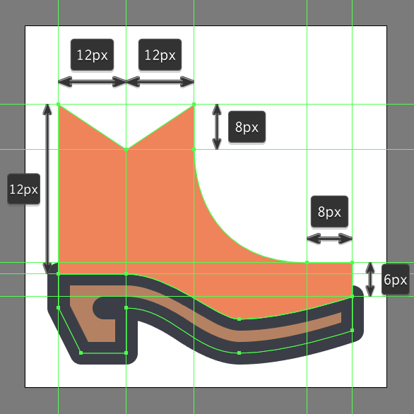 Cowboy Boot Icon shape