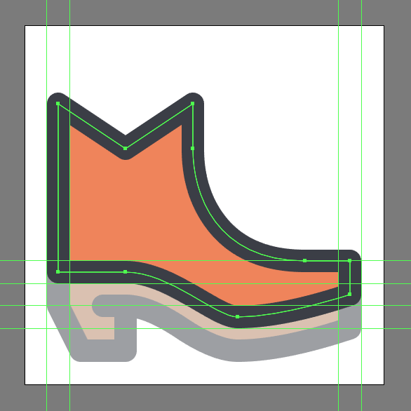 Cowboy Boot Icon outline