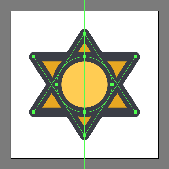 center outline