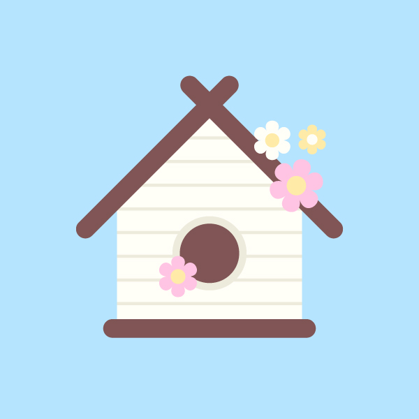 how to draw a bird house