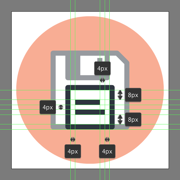 How to design a floppy disk icon