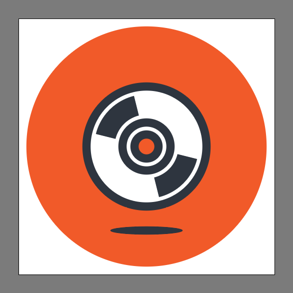 How to create a compact disc icon in Adobe Illustrator
