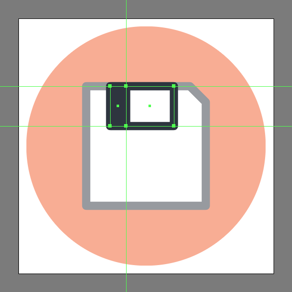 how to make a save icon in Adobe Illustrator