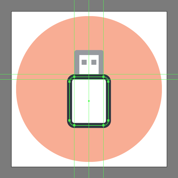 illustrate a usb icon