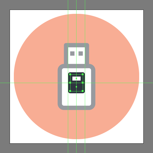how to illustrate a usb icon