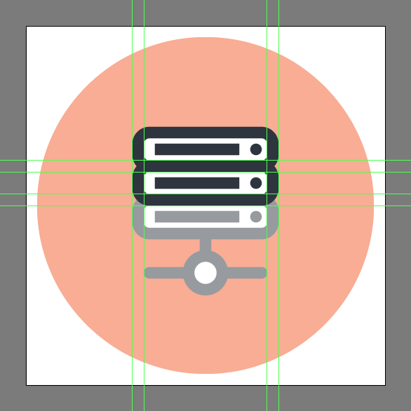 How to illustrate a Network-Attached Storage icon using Adobe Illustrator