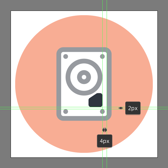 how to make a hard drive vector