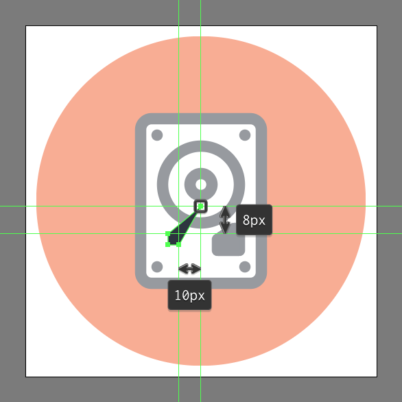 illustrate an hdd icon with this hard drive vector tutorial