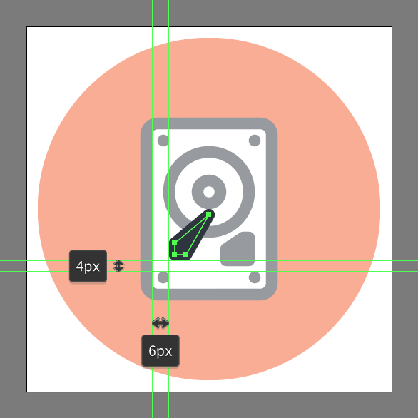 hard drive vector tutorial