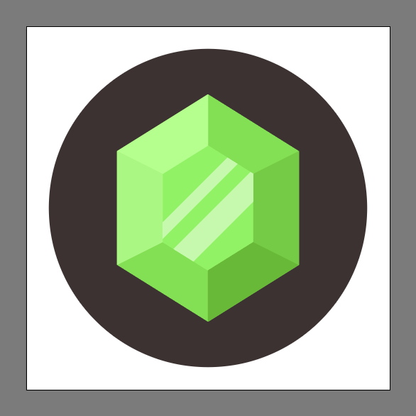 Finished Emerald Gemstone Icon