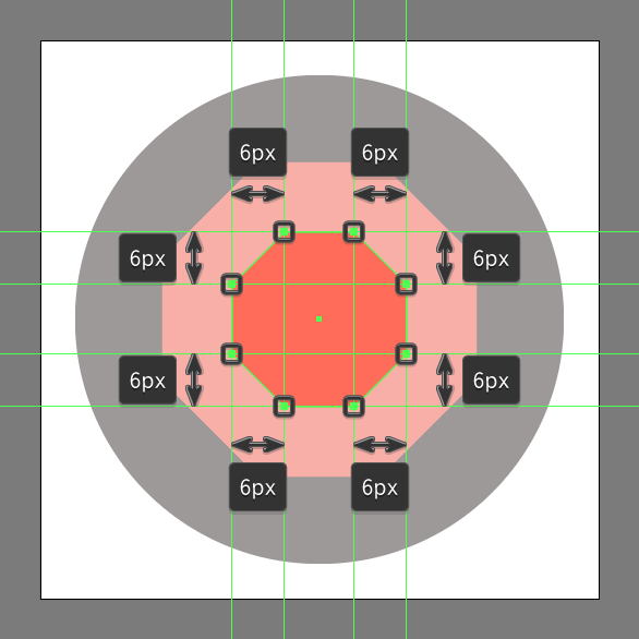 add center of gemstone icon using the same process