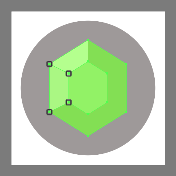 color the Emerald Gemstone Icon