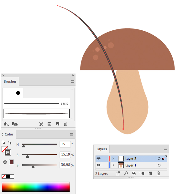 how to design a mushroom in adobe illustrator