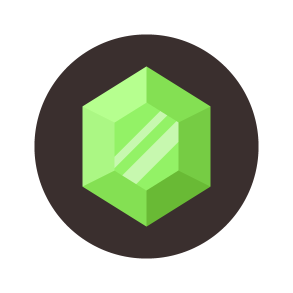 Emerald Gemstone Icon Final Image
