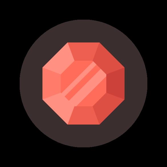 Final Ruby Gemstone Icon