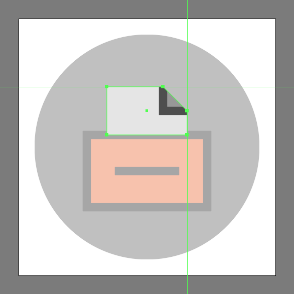 create clipping mask in the File Cabinet Icon