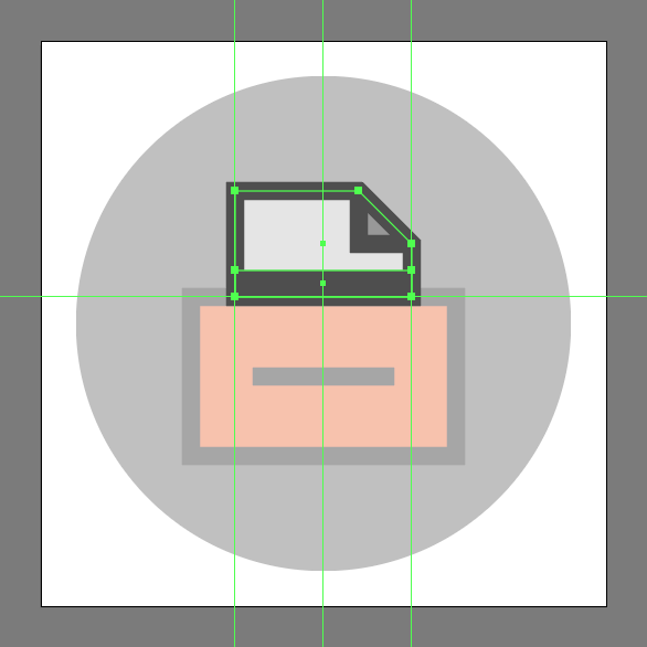 add a hard shadow to the File Cabinet Icon