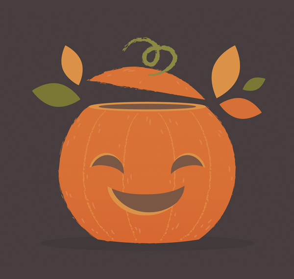 add detail to the Pumpkin illustration
