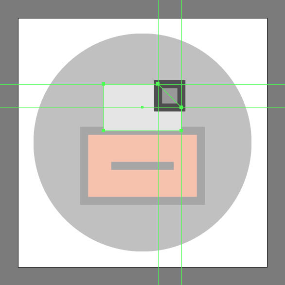 delet anchor point in the File Cabinet Icon