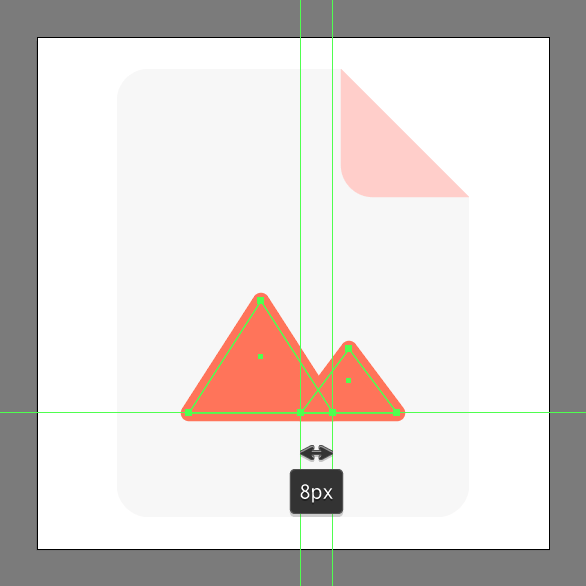 create smaller mountain using rectangle tool