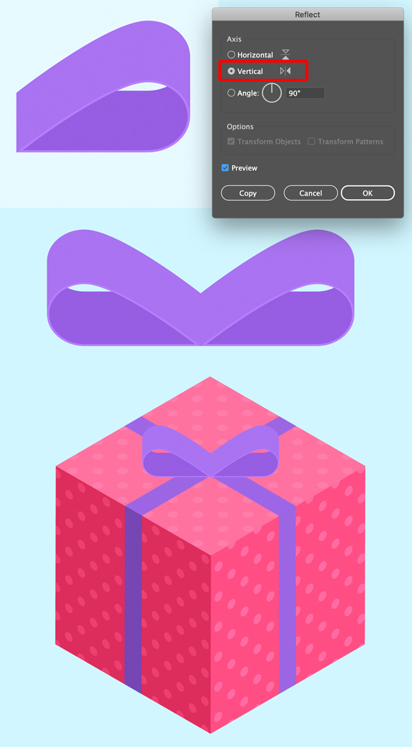 how to create a present in illustrator