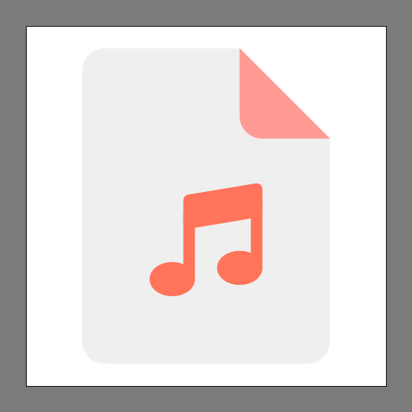 finished music file icon