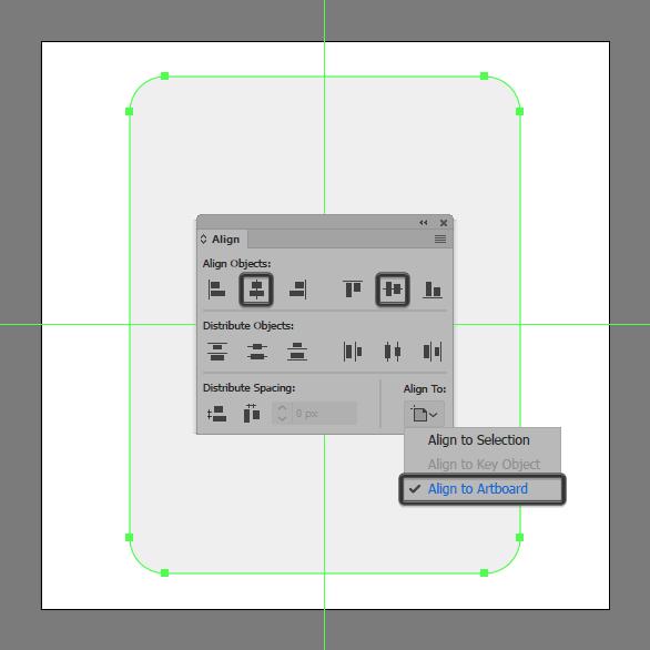 corner radius alignment