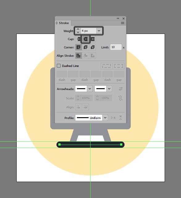 add stoke to imac icon