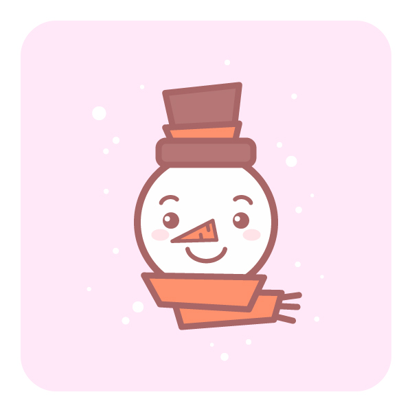 Cute snowman icon final image